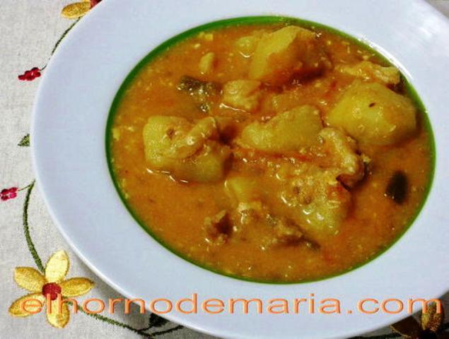 Caldo de patatas con bacalao el horno de mar a recetas - Patatas en caldo con bacalao ...