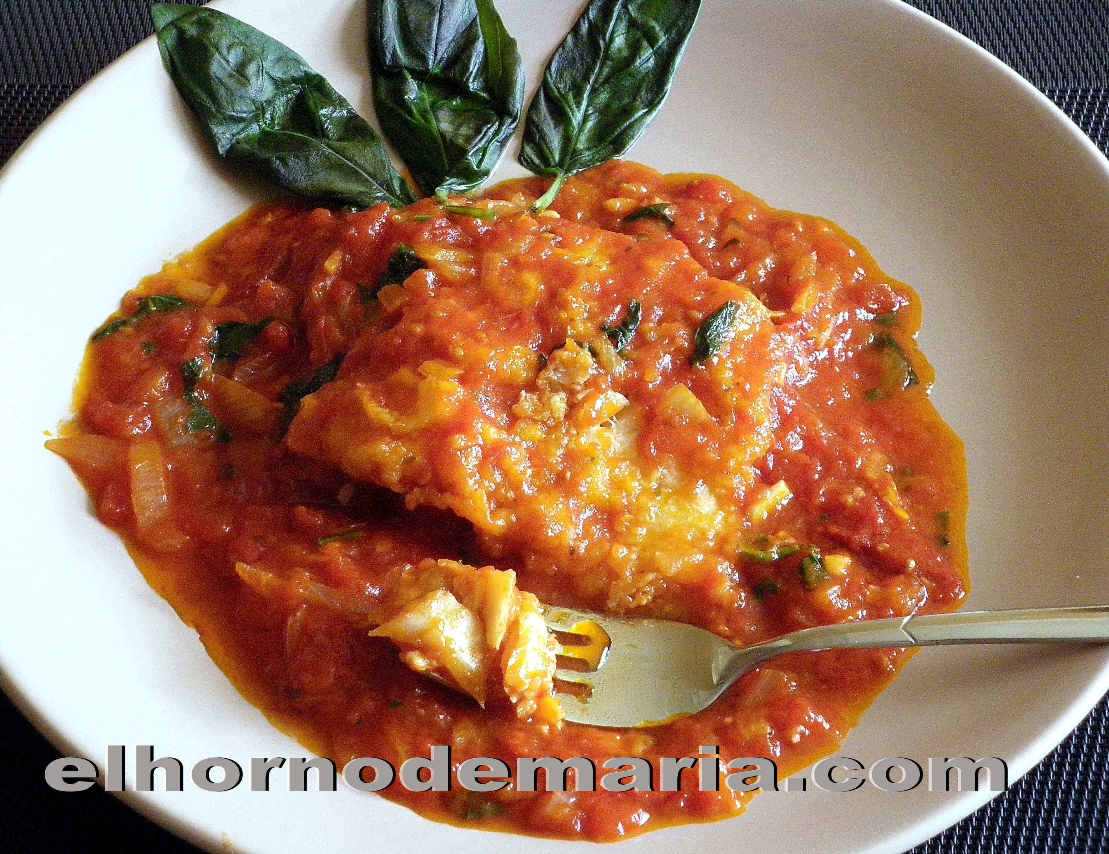Bacalao con tomate a la albahaca el horno de mar a - Bacalao fresco con tomate ...